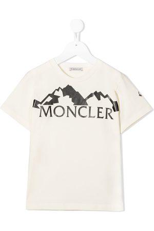 Moncler Logo-print cotton T-shirt - Neutrals
