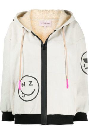 Natasha Zinko Shearling hooded sweatshirt - Neutrals