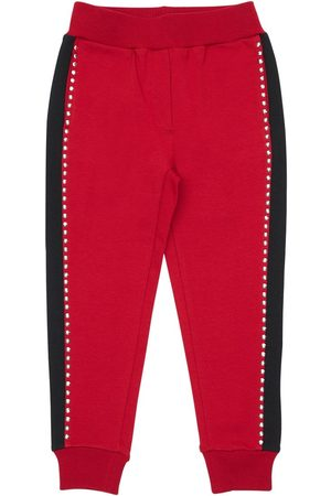 MONNALISA Studded Cotton Sweatpants