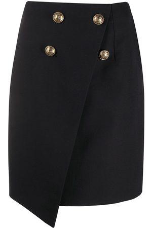 Balmain Asymmetric wraparound skirt