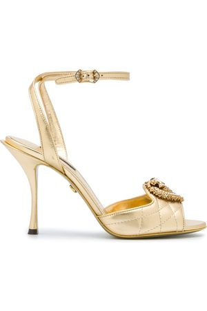 Dolce & Gabbana Metallic strappy leather sandals