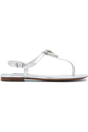 Dolce & Gabbana Metallic strappy leather sandals