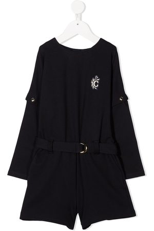 Chloé Logo embroidered belted playsuit