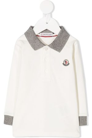 Moncler Polo Shirts - Logo patch polo shirt