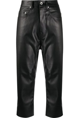 Rick Owens Cropped faux-leather trousers