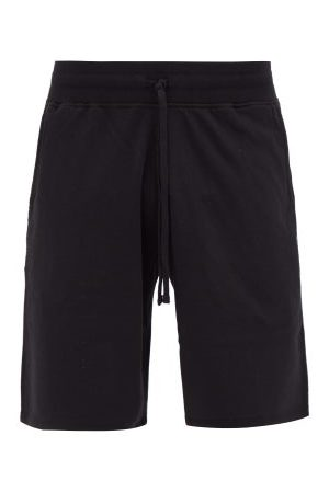 Reigning Champ Men Shorts - Logo-patch Cotton-terry Shorts - Mens