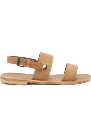 Álvaro Men Sandals - Triple-strap Suede Sandals - Mens - Tan