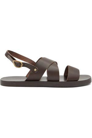 Ancient Greek Sandals Miltos Leather Sandals - Mens