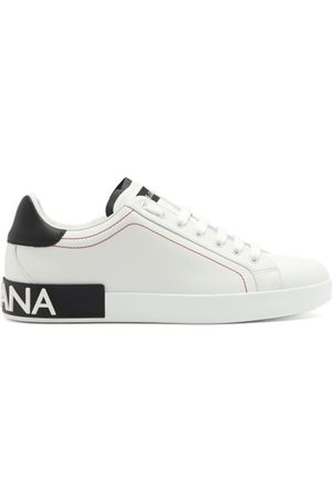 Dolce & Gabbana Portofino Sole-logo Leather Trainers - Mens