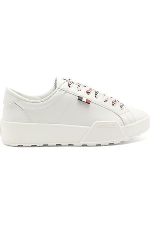 Moncler Sal Logo-patch Leather Trainers - Mens