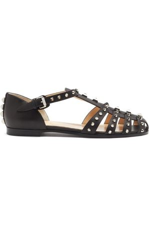 Christian Louboutin Loubiclou Studded Caged Leather Sandals - Womens