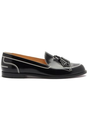 Christian Louboutin Trompinetta Embossed Leather Loafers - Womens