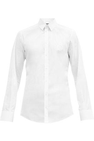 Dolce & Gabbana Logo-embroidered Cotton-poplin Shirt - Mens