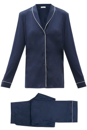 Hanro Natural Comfort Tencel Pyjama Set - Womens - Navy