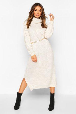 Boohoo Womens Fine Gauge Roll Neck Midaxi Sweater Dress - - S/M