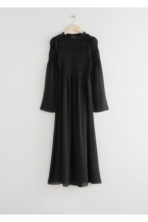& OTHER STORIES Relaxed Smocked Maxi Dress