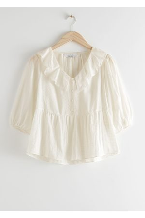 & OTHER STORIES Relaxed Ruffle Collar Top
