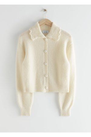 & OTHER STORIES Statement Collar Knit Cardigan