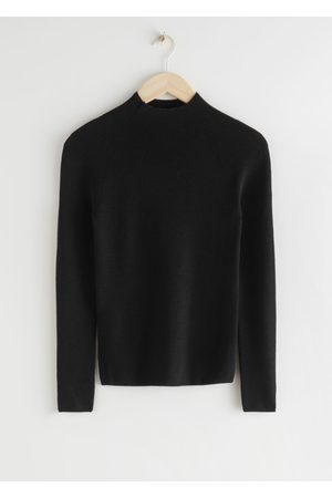 & OTHER STORIES Fitted Mock Neck Wool Sweater