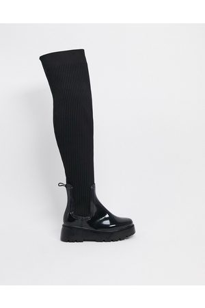 ASOS Georgia over the knee wellie boot in
