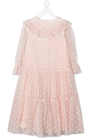 Gucci Girls Dresses - GG embroidered flared dress