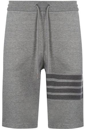 Thom Browne Tonal 4-Bar loopback track shorts - Grey