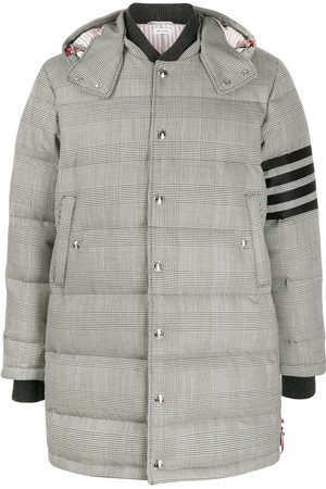 Thom Browne Men Puffer Jackets - Prince of Wales check padded coat