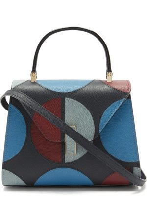 VALEXTRA X La DoubleJ Iside Small Leather Bag - Womens - Navy Multi