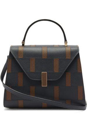 VALEXTRA Iside Medium Saffiano Leather Bag - Womens - Navy Multi