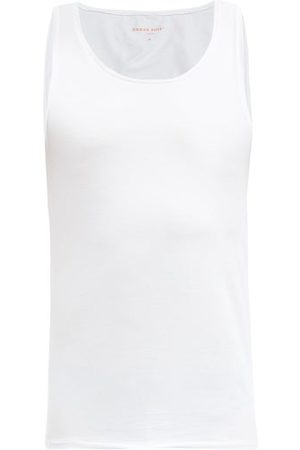 DEREK ROSE Pima Cotton-blend Jersey Tank Top - Mens
