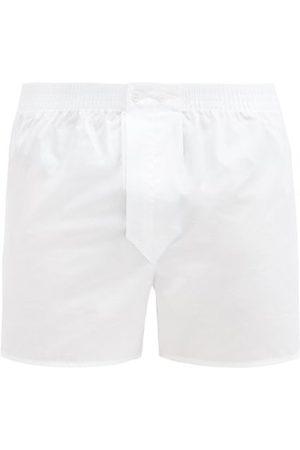 DEREK ROSE Savoy Cotton-poplin Boxer Shorts - Mens