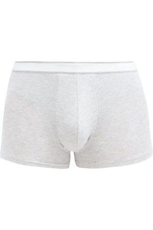 DEREK ROSE Stretch-micromodal Jersey Boxer Briefs - Mens - Grey