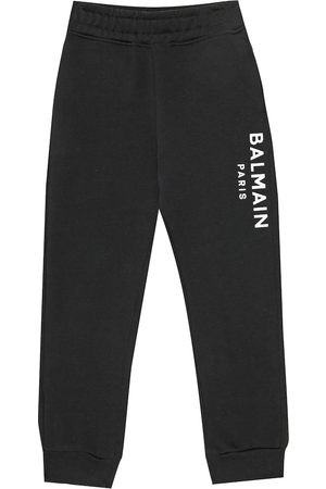 Balmain Logo cotton trackpants