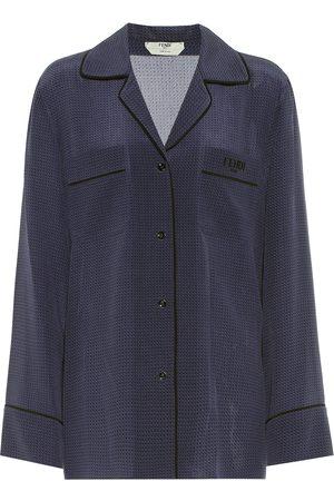 Fendi Polka-dot silk blouse