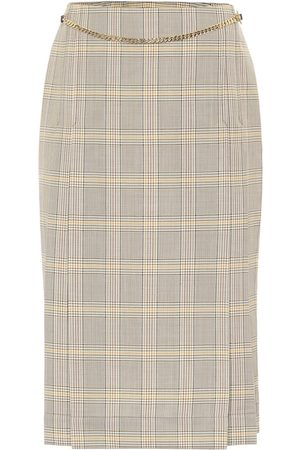 Victoria Beckham Checked virgin wool skirt
