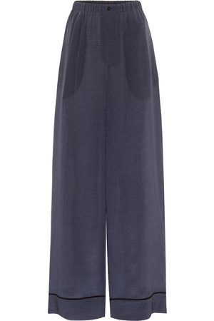 Fendi Polka-dot silk wide-leg pants