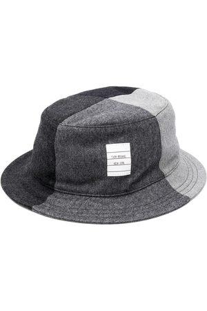 Thom Browne Men Hats - Super 120s flannel bucket hat - Grey