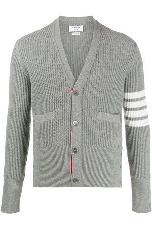 Thom Browne 4-Bar V-neck cardigan - Grey