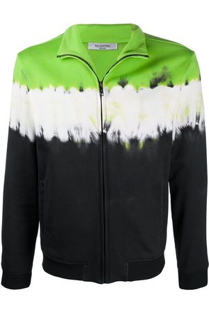 VALENTINO Men Sweatshirts - Tie-dye zipped sweatshirt