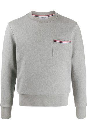 Thom Browne Loopback stripe pocket sweatshirt - Grey