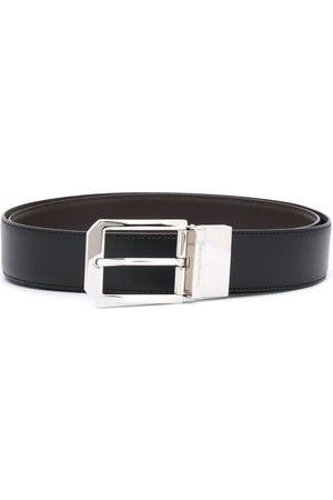 Ermenegildo Zegna Engraved-logo leather belt