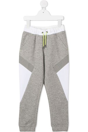 HUGO BOSS Colour-block track pants - Grey