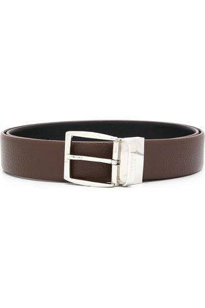 CANALI Men Belts - Engraved logo buckle belt