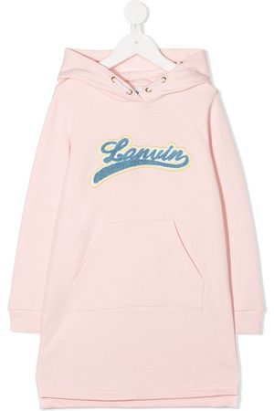 Lanvin Girls Casual Dresses - Logo patch hoodie dress
