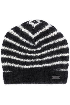 Saint Laurent Striped beanie hat