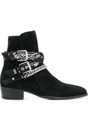 AMIRI Men Ankle Boots - Multi-buckle suede ankle boots