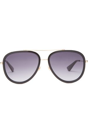 Gucci Women Aviators - Aviator Metal Sunglasses - Womens - Grey