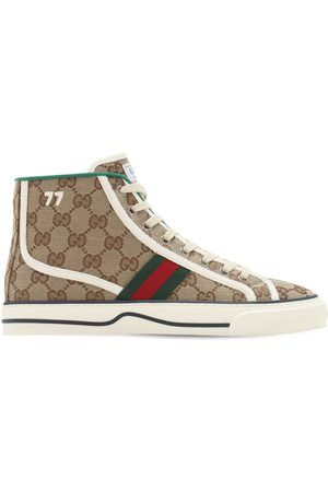 Gucci Women Sneakers - 10mm Tennis 1977 Canvas Sneakers