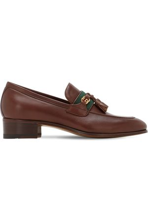 Gucci Women Loafers - 30mm Paride Leather Loafers
