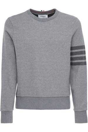 Thom Browne Tonal 4 Bar Cotton Sweatshirt